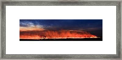 Night Burn Framed Print