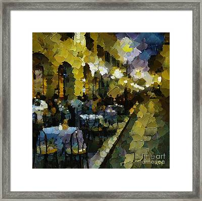 Night Cafe Framed Print by Dragica  Micki Fortuna