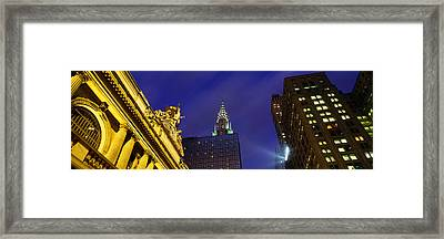 Night, Chrysler Building, Grand Central Framed Print by Panoramic Images