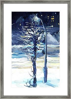 Night City Framed Print by Hrachuhi Grigoryan