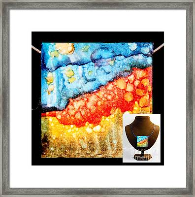 Night Cliffs Necklace Framed Print