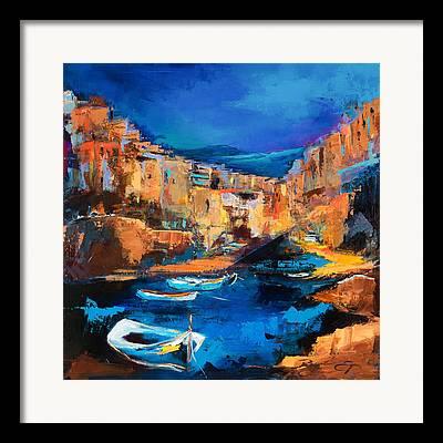 Mediterranean Landscape Framed Prints