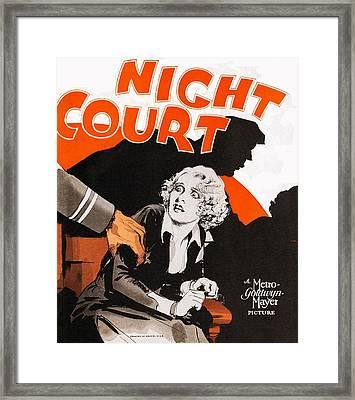Night Court, Poster Art, 1932 Framed Print by Everett
