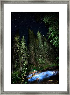 Night Creek Framed Print