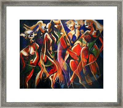 Framed Print featuring the painting Night Dance by Georg Douglas