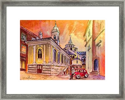 Night Date In Bergamo Framed Print by Miki De Goodaboom