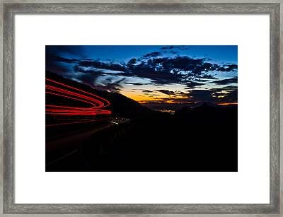 Night Delivery Framed Print