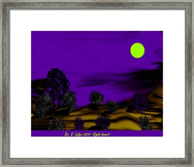 Night Desert Framed Print by Dr Loifer Vladimir
