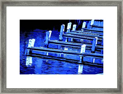Night Docks Framed Print