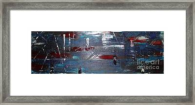 Framed Print featuring the painting Night Drive by Lucy Matta