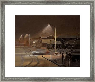 Night Drive Framed Print