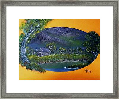 Framed Print featuring the painting Night Enchanted by The GYPSY And DEBBIE