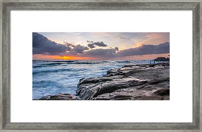 Night Falls Framed Print by Peter Tellone