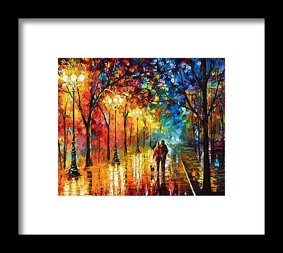 Afremov Framed Prints