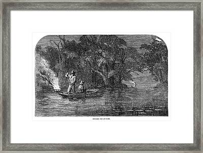 Night Fishing, 1858 Framed Print