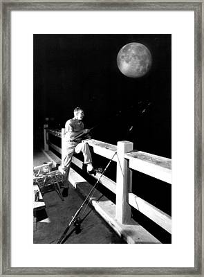 Night Fishing Framed Print by Retro Images Archive