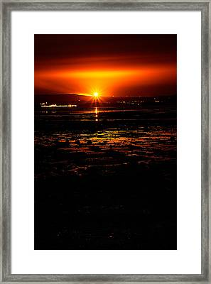 Night Flare. Framed Print