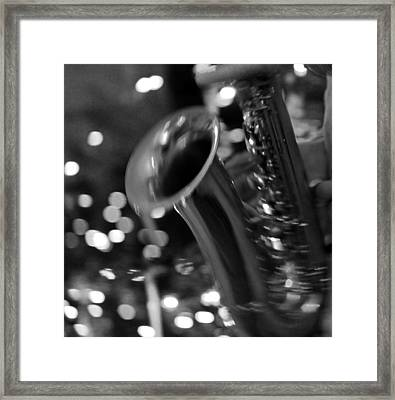 Night Flash Framed Print by Silke Brubaker