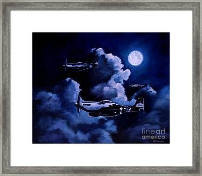 Framed Print featuring the painting Night Flight by Stephen Roberson