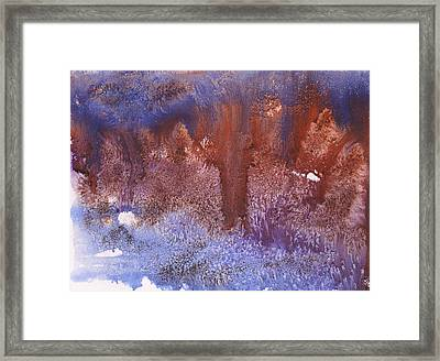 Night Forest Framed Print