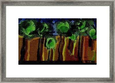 Night Forest Tapestry Framed Print by Lenore Senior