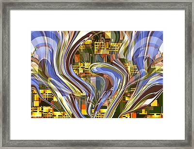 Night Fountain Framed Print