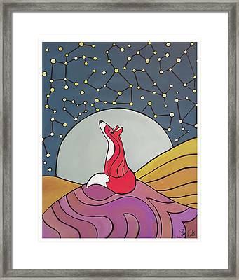 Night Fox Framed Print by Shanni Welsh
