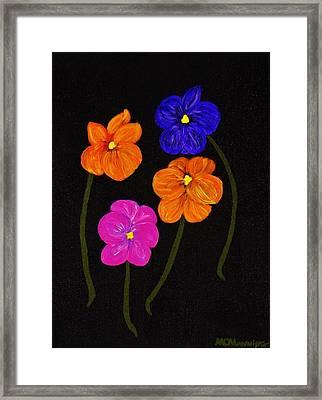 Night Glow Framed Print by Celeste Manning