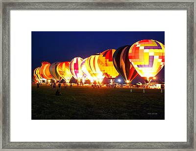 Night Glow Hot Air Balloons Framed Print by Thomas Woolworth