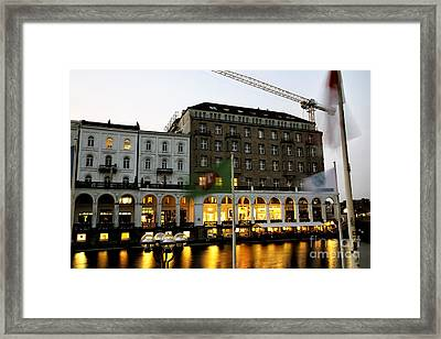 Night Glow In Hamburg Framed Print