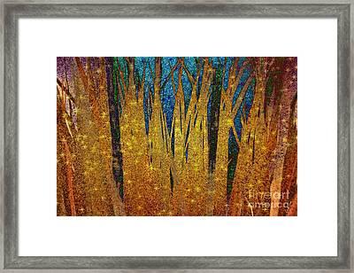Framed Print featuring the digital art Night Grass by Darla Wood