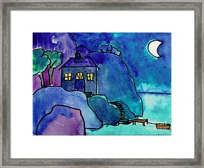 Night Harbor Framed Print