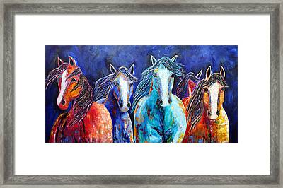 Night Horse Rendezvous Framed Print