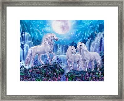 Night Horses Framed Print by Jan Patrik Krasny