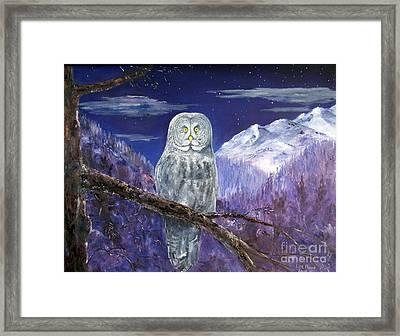 Night Hunter Framed Print by Lee Piper