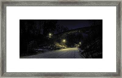 Night Hushed The Shadowy Earth Framed Print