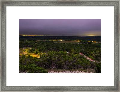 Night In A Texas Hill Country Valley Framed Print