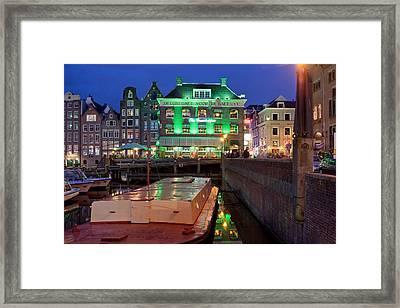 Night In Amsterdam Framed Print