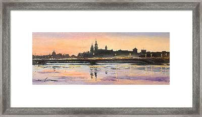 Night In Krakow Framed Print