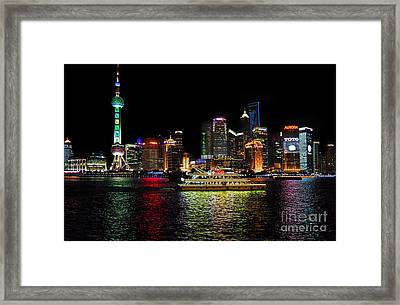 Night In Pudong Framed Print