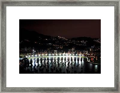 Night In Rio De Janeiro Framed Print by Daniel Precht