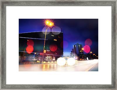 Night In Sofia Framed Print by Svetoslav Sokolov