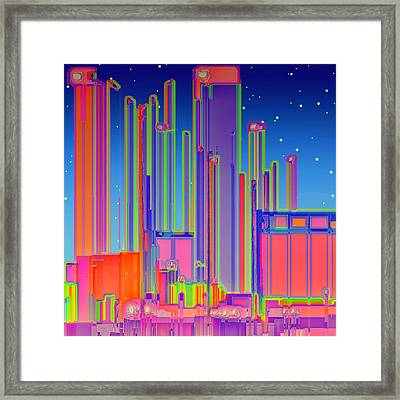 Night In The City Framed Print by Wendy J St Christopher