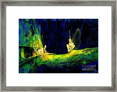 Night In The Cove Framed Print by Tom Straub