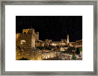 Night In The Old City Framed Print