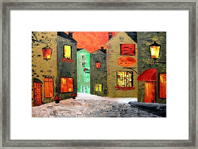 Night In The Town Framed Print by Mariana Stauffer