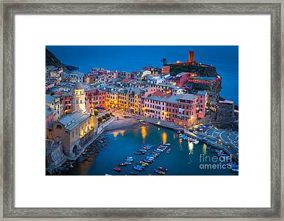 Night In Vernazza Framed Print