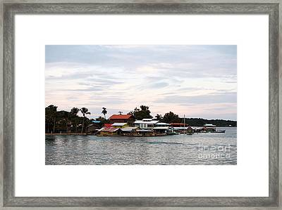 Night Is Coming At Bocas Framed Print by John Rizzuto