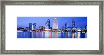 Night, Jacksonville, Florida, Usa Framed Print by Panoramic Images