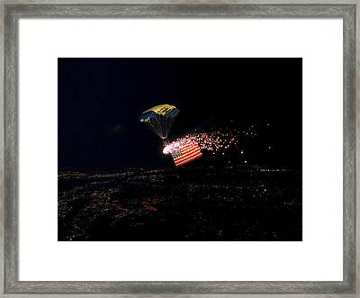 Night Jump Framed Print by Mountain Dreams